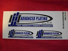 Advanced Plating The World's Finest Chrome Sticker Decal