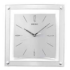 *BRAND NEW* Seiko Square White Dial Clock Watch QXA330SLH
