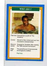 (Jm895-100) RARE,Q.O.S Who Am I ,Paul Ince ,Soccer 1994 MINT