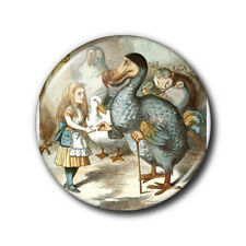 25mm button badge - Alice in Wonderland Dodo in colour - Lewis Carroll
