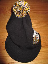 Old Time Hockey BOSTON BRUINS Embroidered (One-Size) Knitted Winter Cap w/ Visor