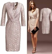 Reiss Andrea Pink Nude Lace Special Occasion Cocktail Party Dress Size 10 Ex con