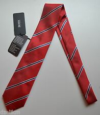 NWT Hugo Boss Black Label By Hugo Boss Distressed Look Silk Tie 'Tie 7.5 cm'