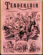 Tenderloin A New Musical Comedy Theater Program