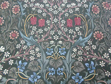 William Morris Curtain Fabric 'Blackthorn' 2.2 METRES Green Floral 100% Cotton