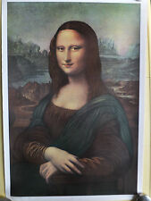 "Print of the ""Monna"" Lisa by Leonardo Da Vinci, Reproduced in the 70's"