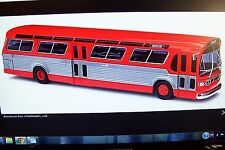 "NEW  ! HO Busch 1959 RED "" No Name "" TDH GMC Fishbowl City Bus 44501"