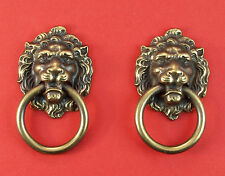 Per Pair - Keeler Brass Lion's Head Drawer Pulls # 458389 *MORE AVAILABLE