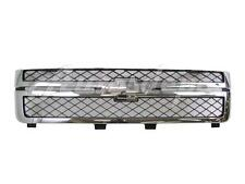 2011-2014 CHEVY SILVERADO 2500HD 3500HD GRILLE DARK GRAY WITH CHROME FRAME NEW