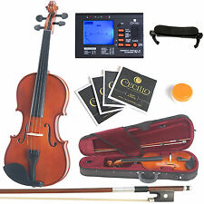Mendini Solidwood Violin 1/4 Size +Tuner+Shdrest+2 set Strings+Case ~1/4MV200