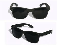 2 Pair New Matte Soft Wayfarer Sunglasses With SUPER Dark Black Lens Classic
