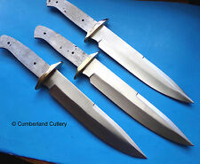 Lot of 3 Large Bowie Knife Making Blade Blanks - Custom Hunting Skinning