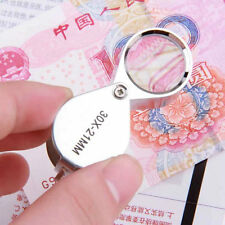 30X Glass Magnifying Magnifier Jeweler Eye Jewelry Loupe Loop FE