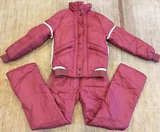 Vintage 70's 80's Obermeyer Ski Snow Suit Pink Women's Large