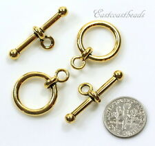 TierraCast, 12mm, Anna Toggle Clasp Sets, Antiqued Gold Plated Pewter, 2 Sets