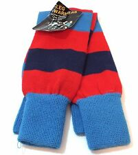 Vintage 1980's Leg Warmers Red Blue Striped Retro 70's 80's Exercise Workout