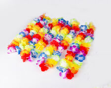 10PCS Hawaiian Beach Lei Leis Flower Necklace Decorations Tropical Luau Party