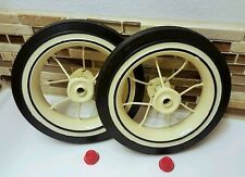 2 Radio Flyer Wheels Replacement Rear Trike  Kit Tricycle Model 33 34 Tire Spoke