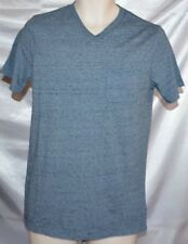 NEW Mens MOSSIMO Pocketed V-Neck Marble Blue Foil Tee T-Shirt Top size M