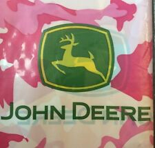 "John Deere Girls Pink Party Plastic Tablecloth Table Cover 54"" X 108"" New Camo"