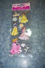 EK SUCCESS DISNEY PRINCESS CROWN DIMENSIONAL STICKER, 8 PCS, NEW