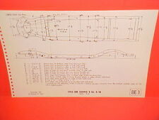 1953 DESOTO POWERMASTER 6 FIREDOME V8 CONVERTIBLE COUPE FRAME DIMENSION CHART