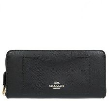 NWT COACH F54007 ACCORDION ZIP WALLET IN CROSSGRAIN LEATHER