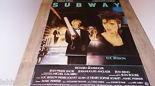luc besson SUBWAY ! adjani  affiche cinema