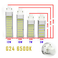 1X 5W G24 5050 SMD LEDs Spot Light Corn Lamps Bulbs Energie warm white + cover