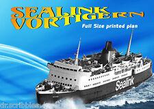 New Model Ferry Boat Full Size Plan Semi Scale Sealink VORTIGERN 4 Radio control