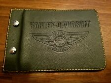 HARLEY DAVIDSON RIDING ACADEMY THE ROADBOOK BLACK LEATHER CARD HOLDER FOLDING