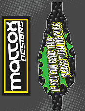 TWO Team Associated SC10 1:10 12 Mil INDOOR Chassis Skins- Flip Me Over