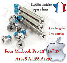 "Pour Apple Macbook pro 13"" 15"" 17"" a1278 a1286 a1297 screws set 10x vis lot"