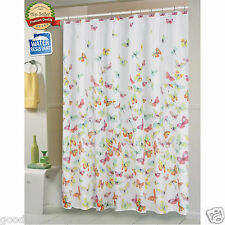 Shannon Butterfly Fabric Shower Curtain by Carnation Home Fashions®