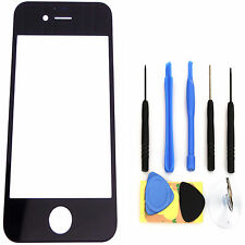 Black New Replacement Front Screen Glass Lens Cover for iPhone 4S + Tools 82181