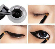 Waterproof Eye Liner Eyeliner Shadow Gel Makeup Cosmetic + Brush Black Hot hc