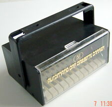 "ONE VINTAGE AUTOMATIC CAR CASSETTE CARRIER, 7""x 5"" INCHES"
