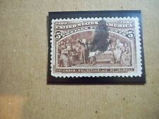 USA Used 1893 Issue, 5 cent Columbian Exposition Chocolate, Scott#234