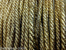 Twisted Lurex 8 mm Cord Several Colours £1.50 Per Metre