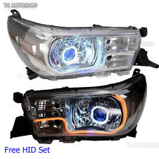 Set Head lamp Projector DRL LED HID For Toyota Hilux Revo SR5 M70 M80 2015 2016