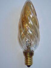 Ampoule EDISON Flamme Torsadee A de Luxe SUDRON LAMPE CROZE E14 25W ambre NEUVE