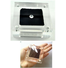 Acrylic LOOSE DIAMOND DISPLAY CASE HOLDER GEM SHOW STORAGE CONTAINER Square Box