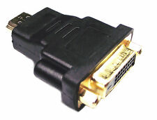 From OZ Quality 1PC HDMI Male to DVI-D Female Cable Adaptor Gold Plug +FREE POST