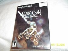 PS2  Star Ocean: Till the End of Time  LOOK RARE HTF LOOK BUY IT NOW