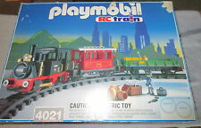Playmobil 4021 4019 4017 RC Old Timer Train 1997 Near complete with box