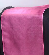 ORGANZA TABLE RUNNER -WEDDING DECOR EVENTS- 80 COLOURS+MATCHING SASHES AVAILABLE