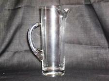 Vintage Tall Slim Clear Glass Martini Pitchure With Sure Pour Spout