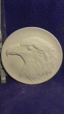 "Eagle plate 8"" ready to paint ceramic bisque"