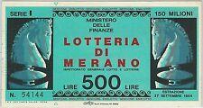 59583-ITALIA-STORIA POSTALE: BIGLIETTO DELLA LOTTERIA - 1964-Scacchi