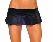 Sexy Stripper Gogo Dancer Raver Rave Wear Black Pleated Mini Skirt BZ-1721